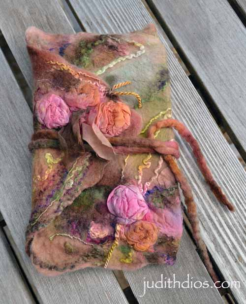 Hand-painted Antique Roses Journal