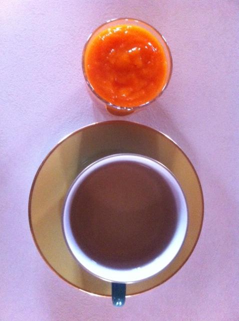 Albicocche e tè verde.JPG