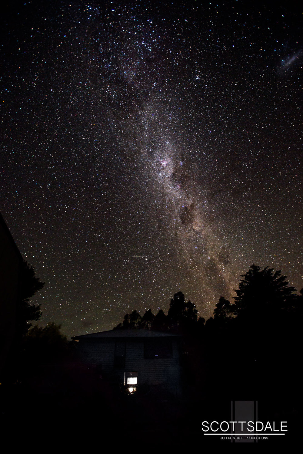 Milky Way over Scottsdale, Tasmania.