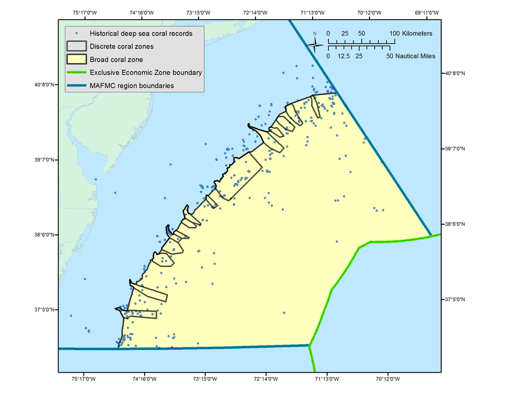 Proposed Frank R. Lautenberg Deep Sea Coral Protection Area (click to expand)