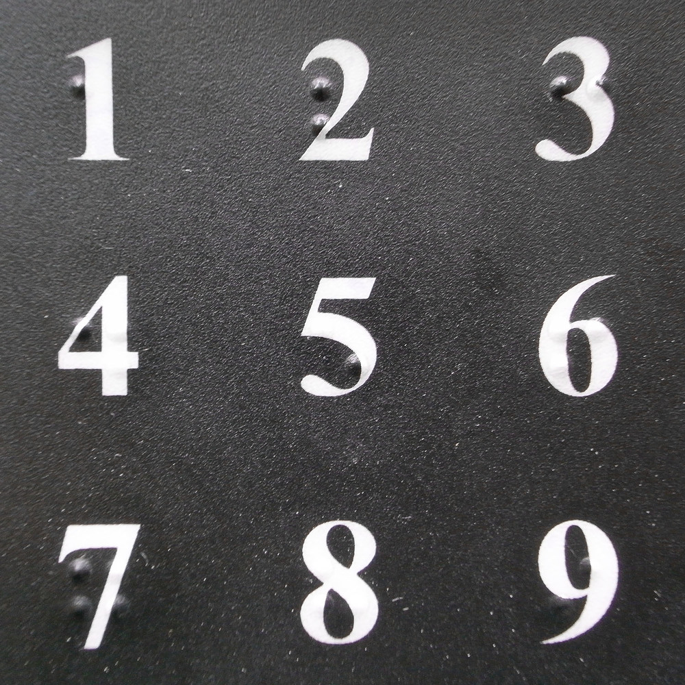 The ubiquitous Polish  domofon  keypad features numbers with distinct tones, thus allowing for the playback of simple melodies.