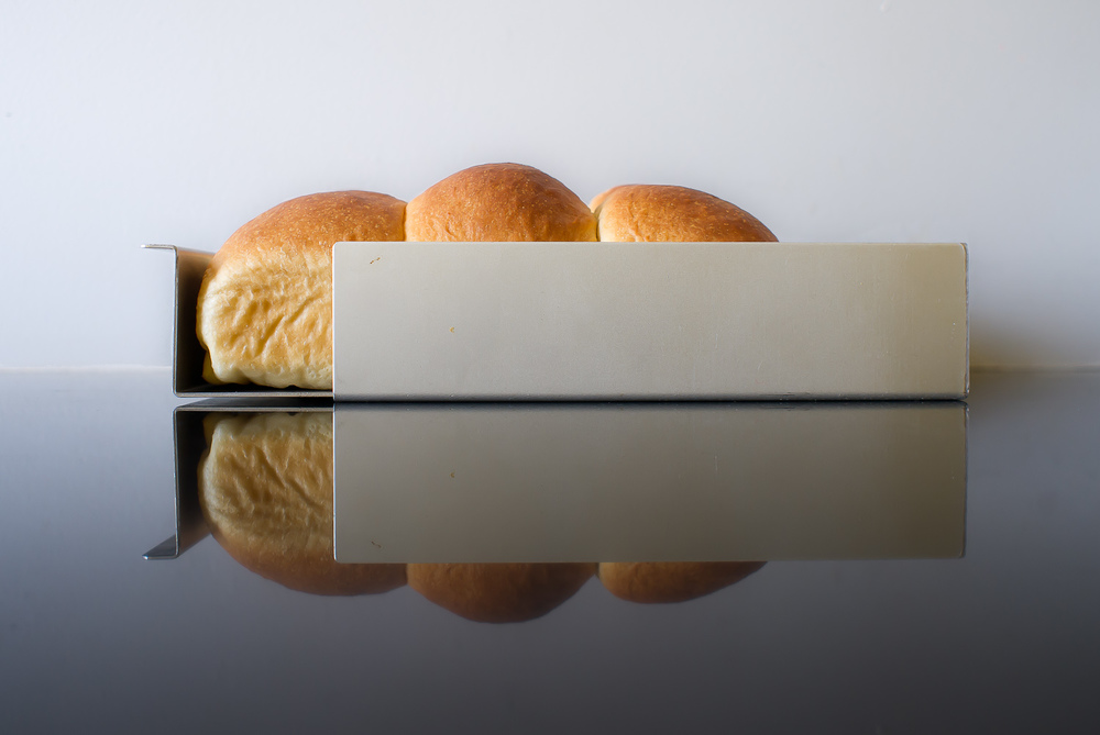 The 8 x 8 x 2 inch Silverwood Bakeware Eyecatcher pan in revolutionary anodized aluminum for excellent heat transfer, shown featuring a homemade brioche. Photo by Osiatynska, 2013, shot in daylight using a Leica X1.