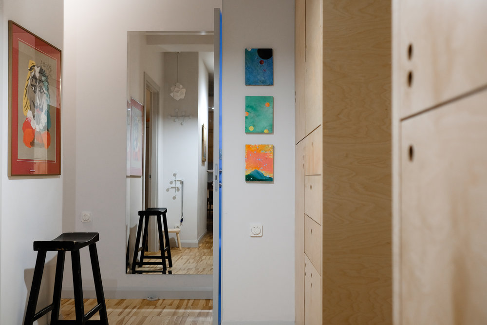 A trio of Zawisza miniatures adorns the main hall of the author's apartment. Note how the figure in the Picasso print seems transfixed by the triptych—and how the triptych appears to be entirely oblivious to the Picasso.