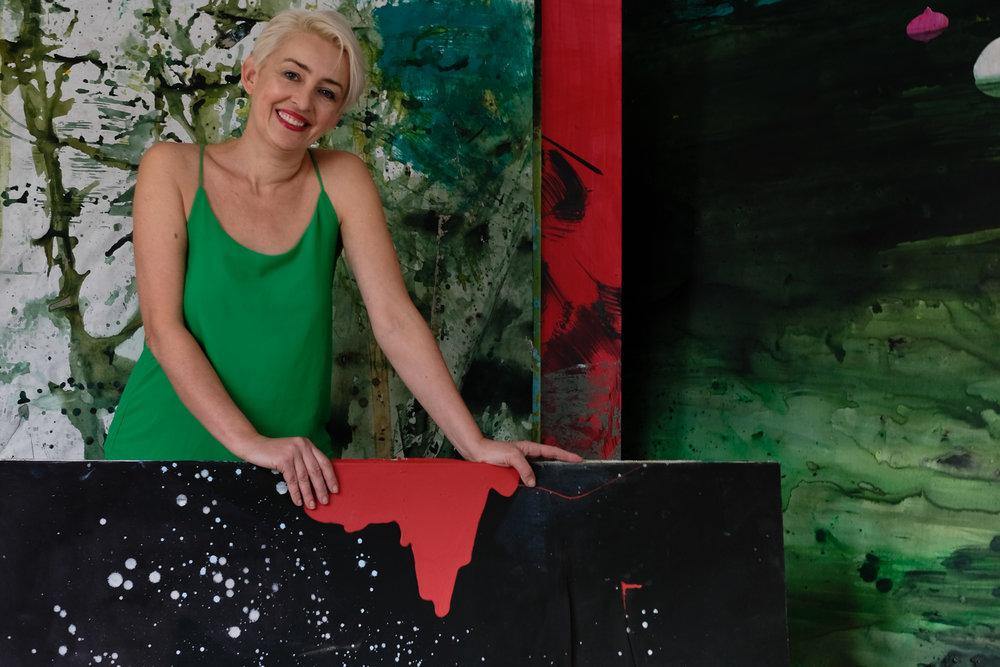 Agnieszka Zawisza in her studio, 2018.