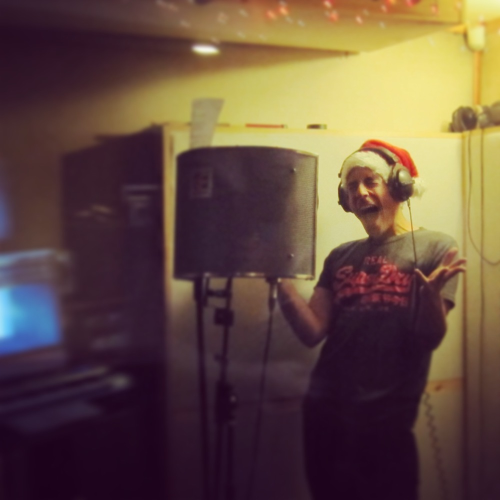 recording Oh Santa!.JPG