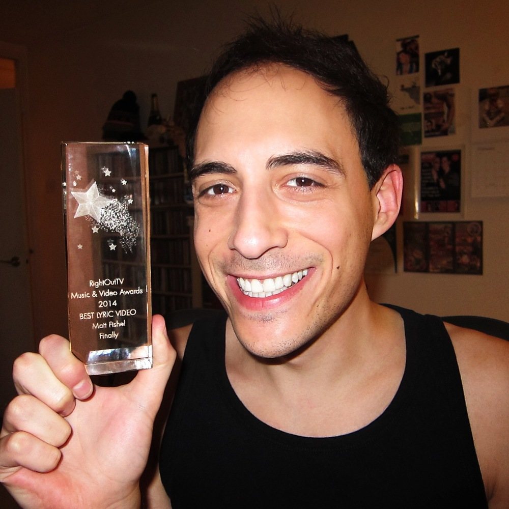 Matt Fishel Best Lyric Video Award 2014.JPG