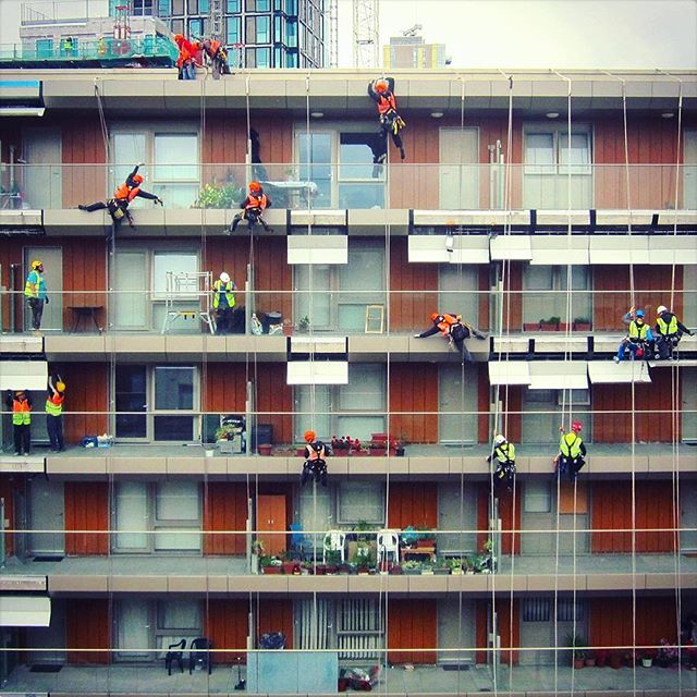 Dance of the Construction Workers! 👷🏽👷🏻👷🏿 #contemporarydance #yesbutisitart