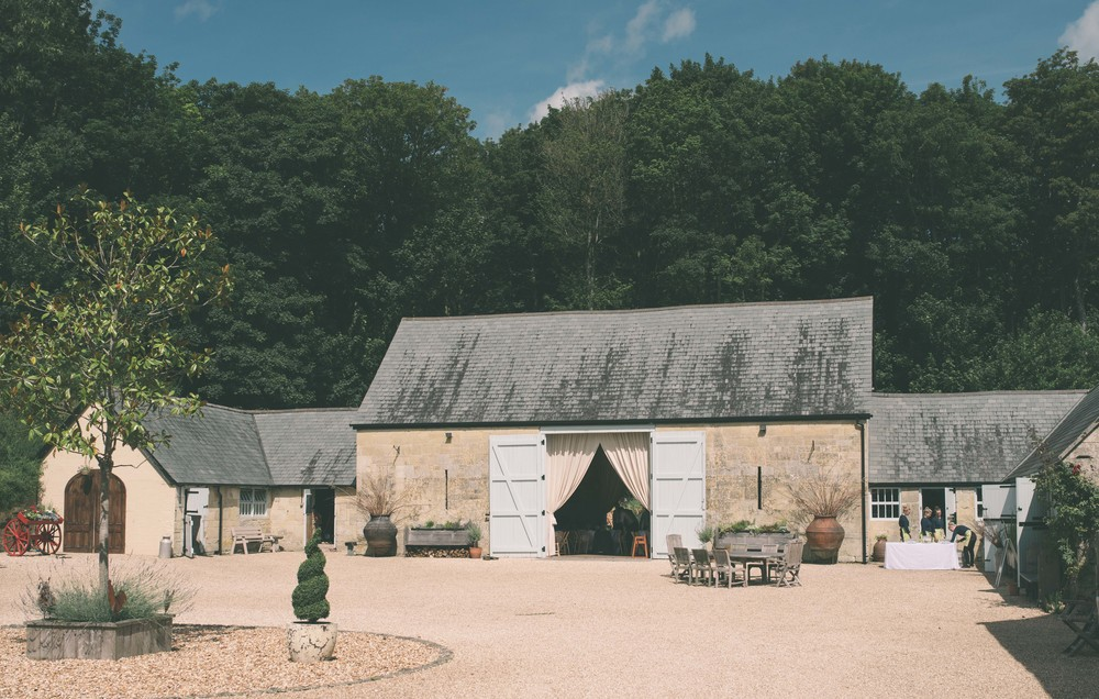 The main barn as you enter the farm