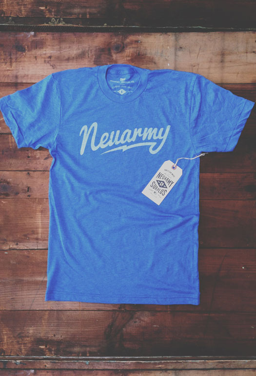 neuarmysurplus :      Neuarmy Surplus Co. — Standard Issue Script (Blue)