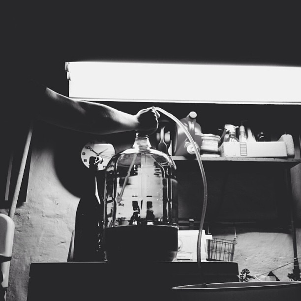 Another from last night's bottling sesh.   @jasonmarziani   #b&w #homebrew