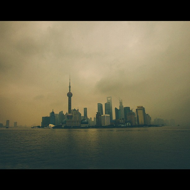 #Shanghai skyline financial district. #latergram #sicksky #landscape