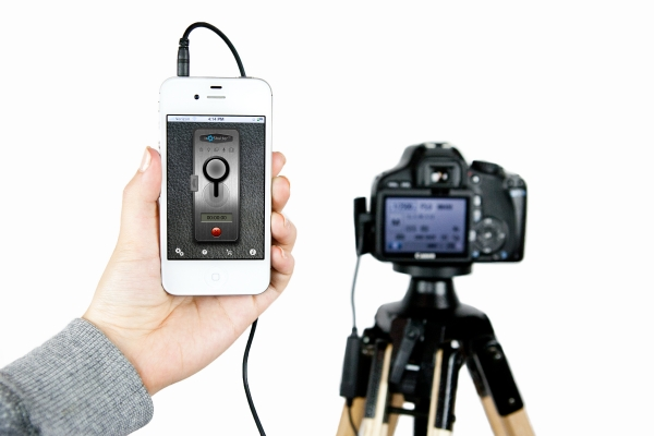 museumofusefulthings :     ioShutter Camera Remote:    A cord/app combo that lets you control your camera's shutter with your iPhone, iPad, or iPod Touch's iOS. 6 modes: standard trigger, motion trigger, sound trigger, time-lapse, timer, and bulb.   Saw this  here . See more  here .