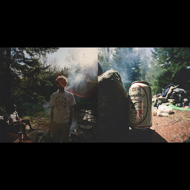 Let's go camping again, friend.  (Taken with  instagram )