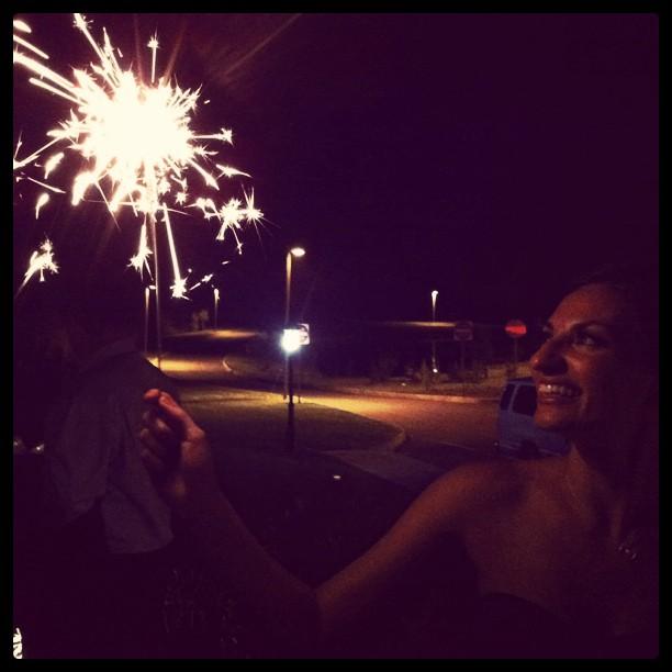 My beaut lite by sparkler!  (Taken with  instagram )