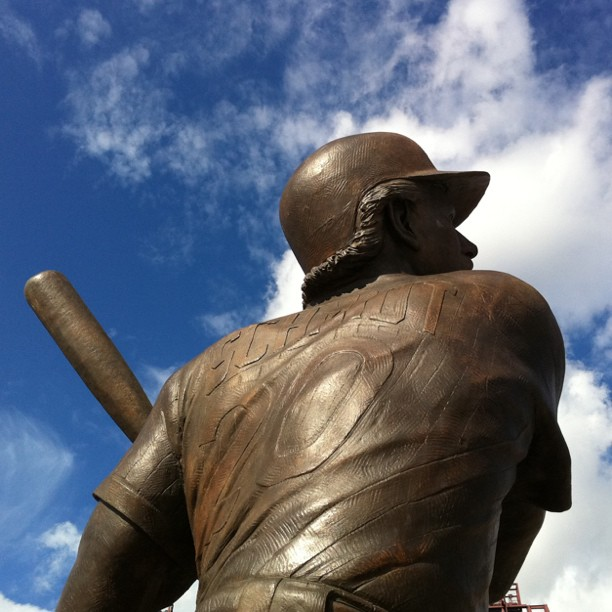 MJS #statue #phillies game.  (Taken with  instagram )