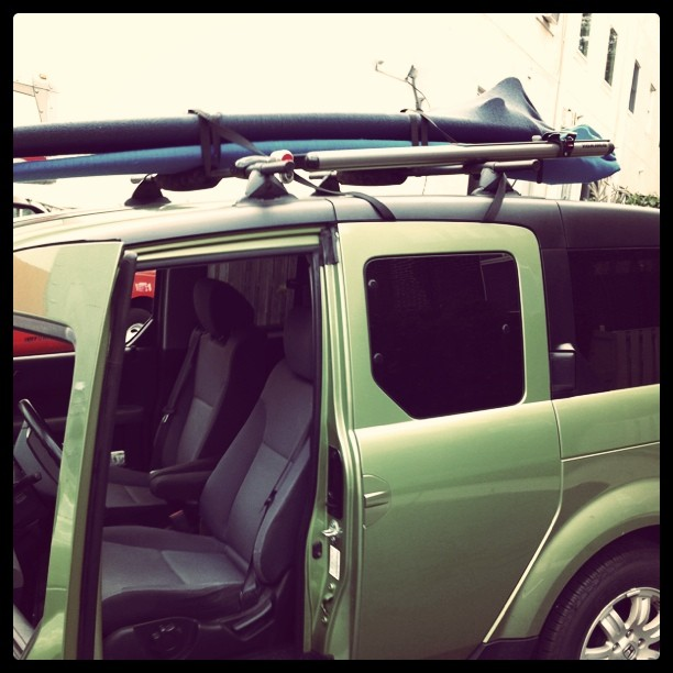 Boards and dog are packed! Beach here we come!! (Taken with  instagram )