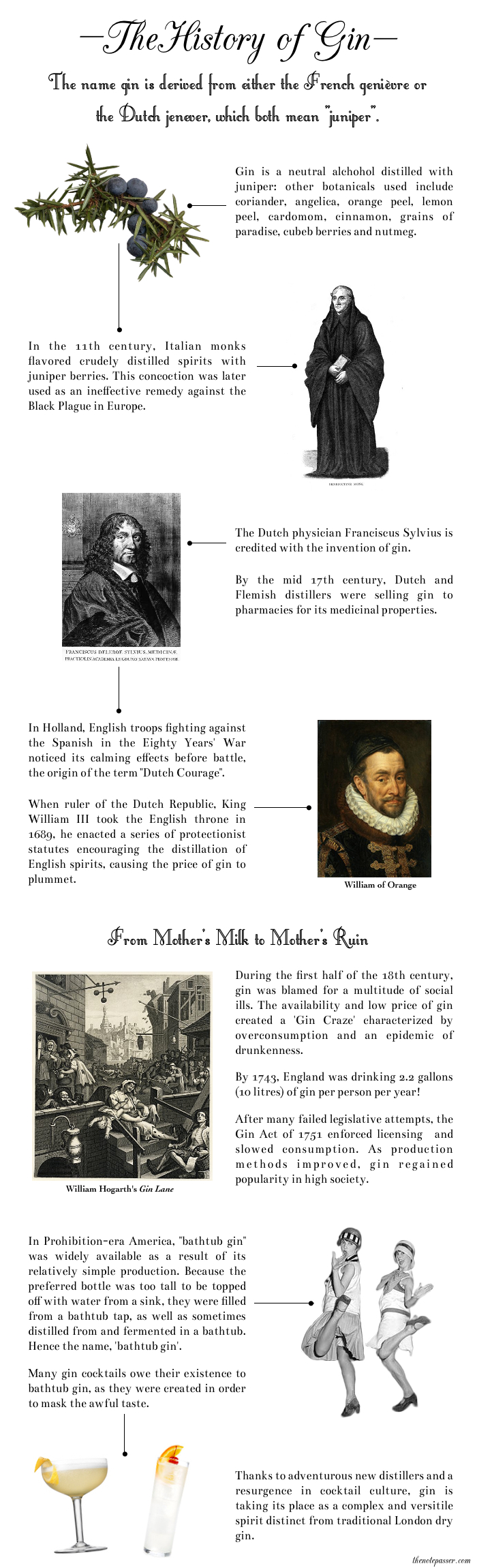 A Visual History of Gin - thenotepasser.com