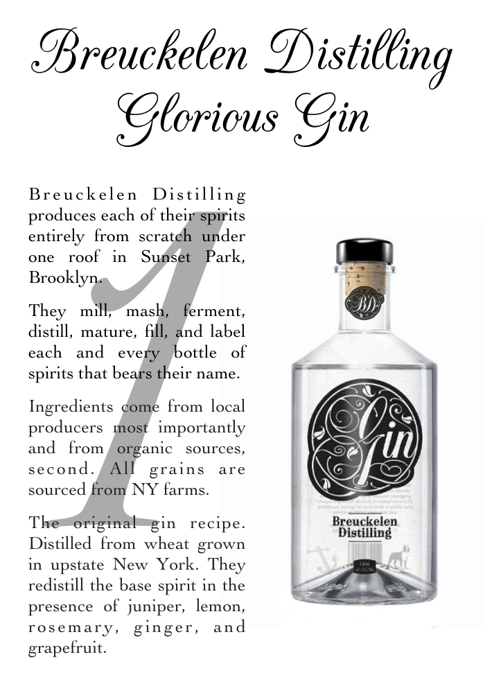 Breuckelen Gin profile - the notepasser.com