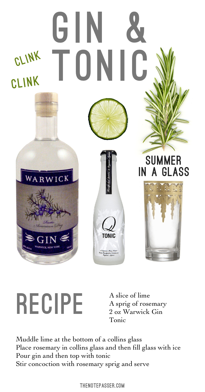 How to throw a gin tasting part 3 the note passer for Best mixers for gin