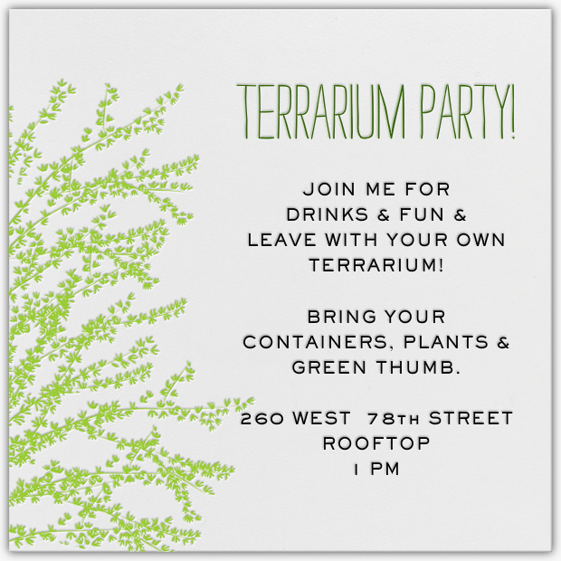 Terrarium Party Invitation - The Note Passer