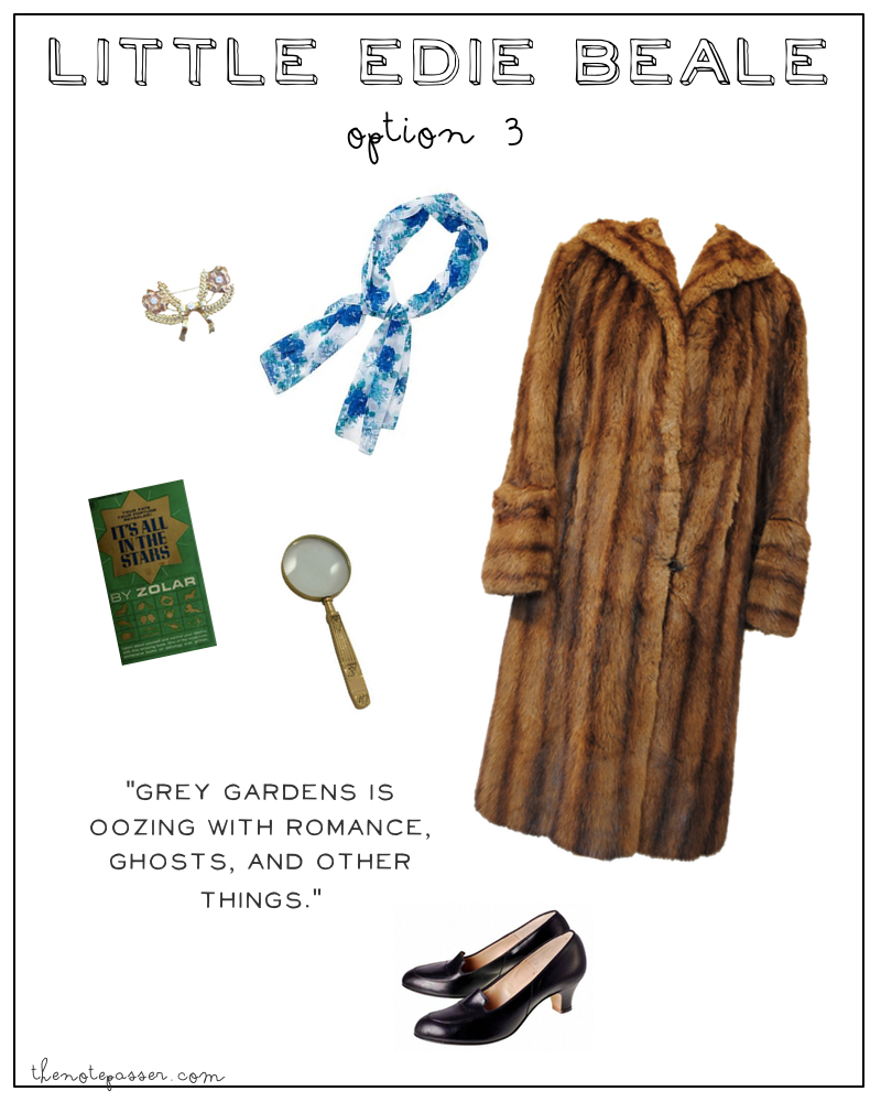 brooch | coat | magnifying glass | shoes