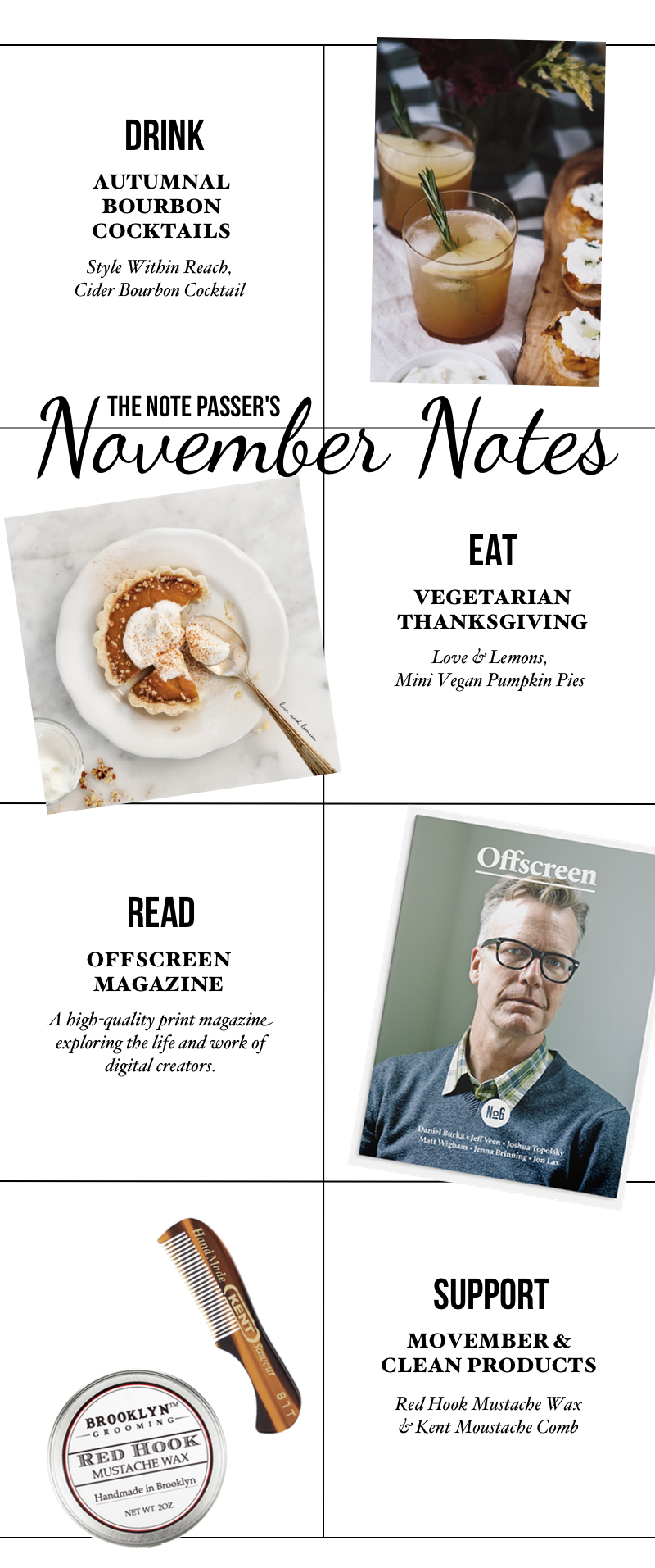 November Notes via thenotepasser.com