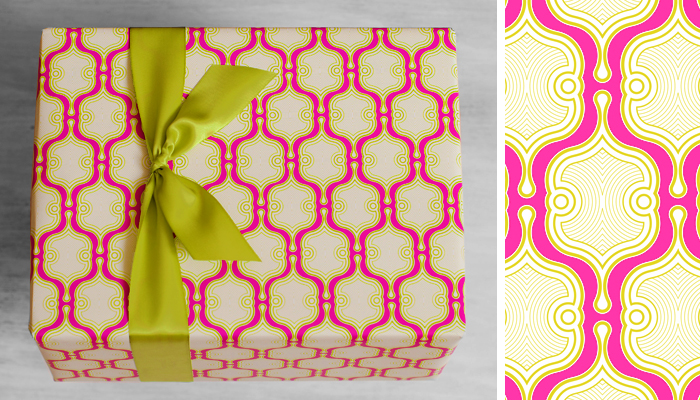 ETHICAL GIFT GUIDE: WRAPPING   Gift paper by  Fish Lips Paper Design  is 100% recycled, printed with soy based inks, and made in the USA.
