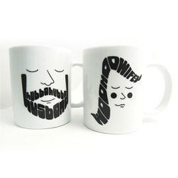 Husband and Wife Coffee Mugs  $38
