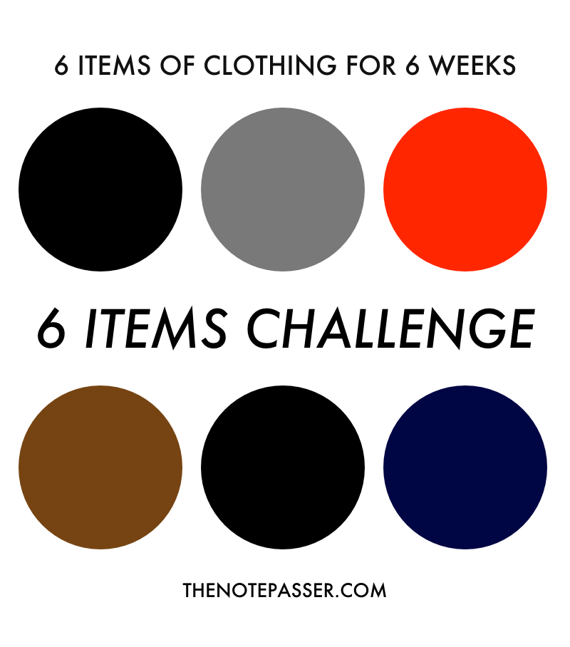 The Six Items Challenge | thenotepasser.com