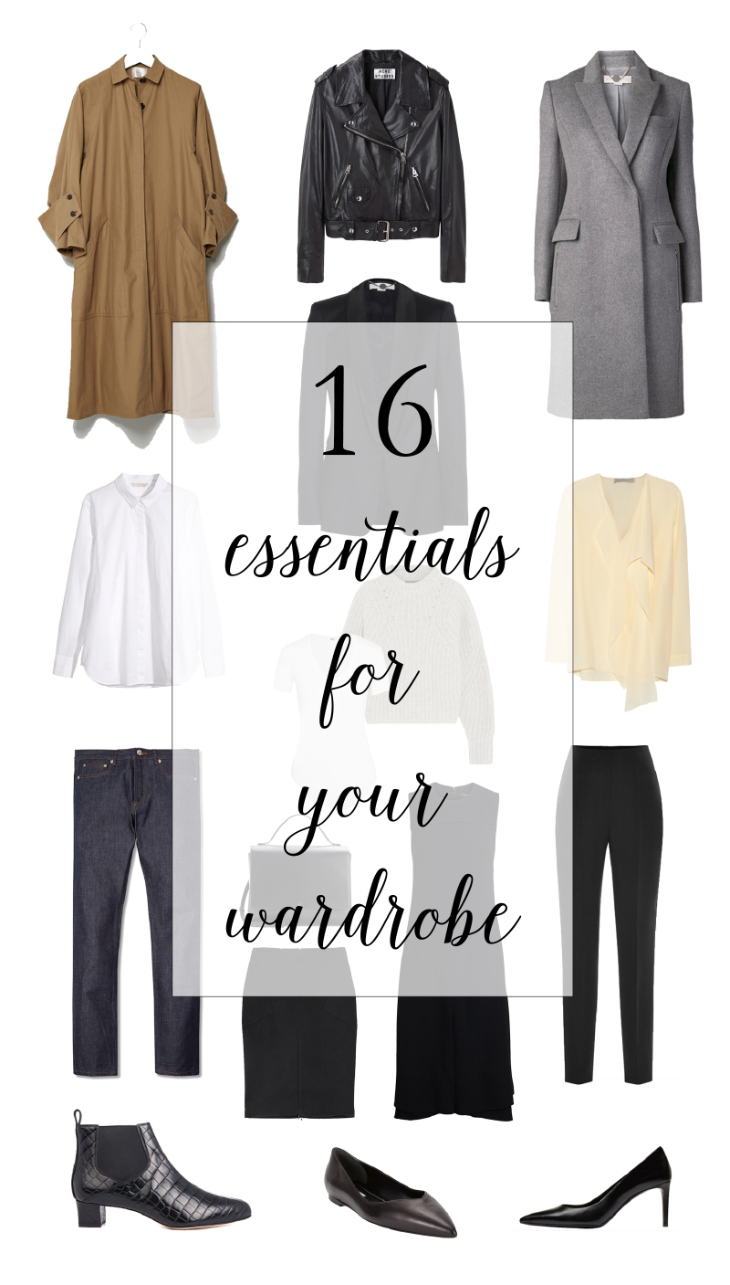 16 Essentials for Your Wardrobe | thenotepasser.com