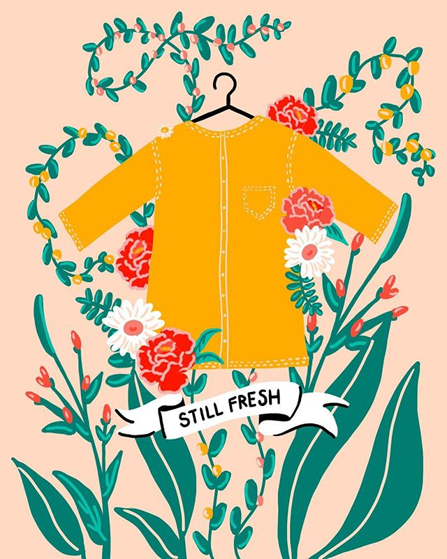 This month on Selva Beat: how we love our clothes. @janebadall's advice is really clever — check it out on @selvabeat 🌷🌷🌷Illustration by me.