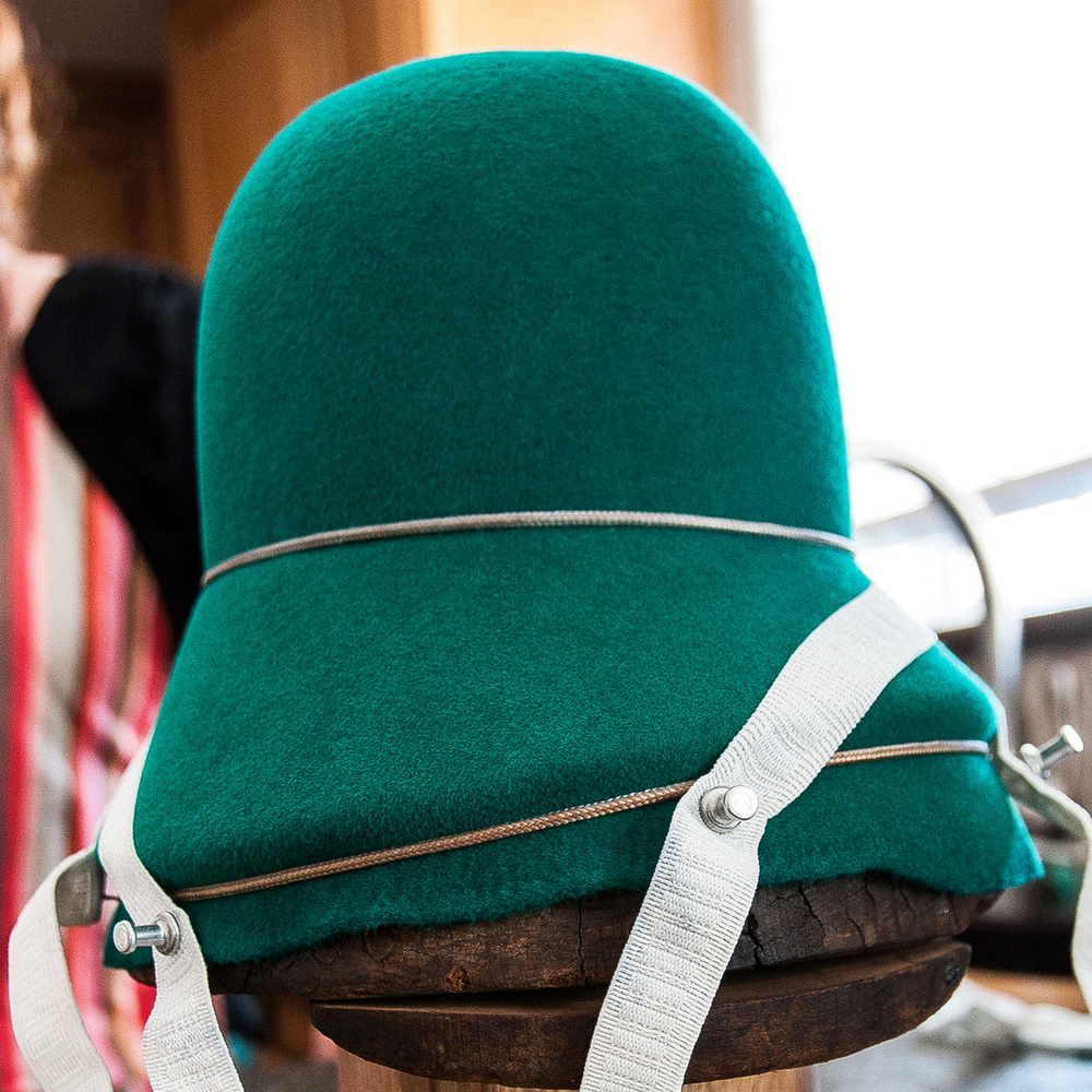 A blocked hat. From Madesmith Interview with Una Hats. Photo credit: Erin Fox
