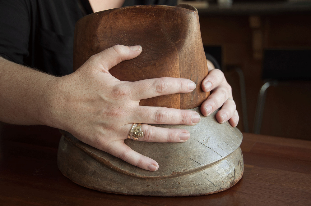 One of my favorite vintage hat blocks. From Madesmith Interview with Una Hats. Photo credit: Erin Fox