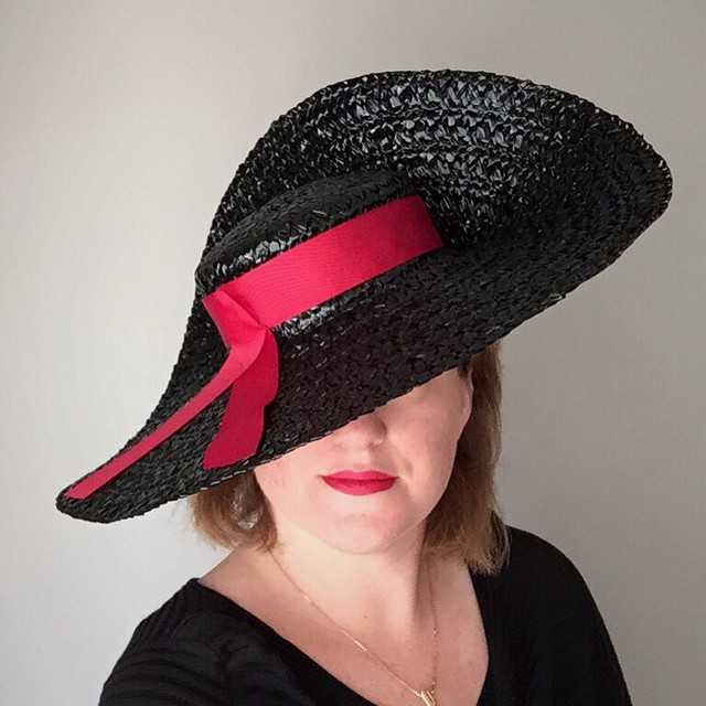 Oh, you needn't call me that. Madam will do. -Lady Tremaine/ #Cinderella    Feeling very #ladytremaine today    #handmade by (me) @unahats   Using authentic #vintage materials I luckily stumbled upon at a estate sale of a milliner. #fate    ______________________________________  #bespoke #vintagestyle #madeinla #dapper #dapperday #unahats #hat #hatshop #hat #millinery #hatshop #milliner