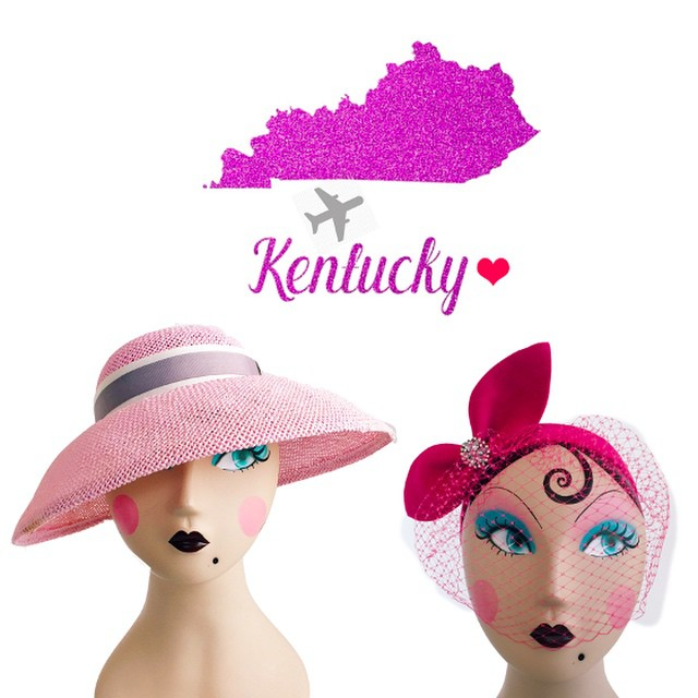 A collection of my hats have officially landed. ✈️ Available Now @blockpartyhandmade   In #louisville #kentucky   ______________________________________  #kentuckyoaks #kentuckyderbyhat #kentuckyderby #kyderby #fascinator #strawhat #racingfashion #talkderbytome #cocktailhat #thatsdarling #darling #millinery #unahats