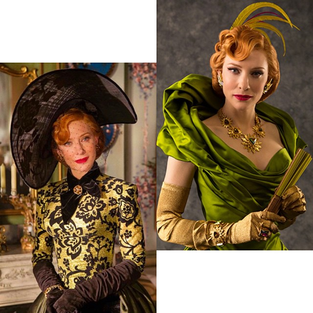 #ladytremaine had the best costumes in the movie #sorrycinderella     Take note, a lady always wears a fierce #hat. A villain after my own heart. #cinderellamovie #cinderella