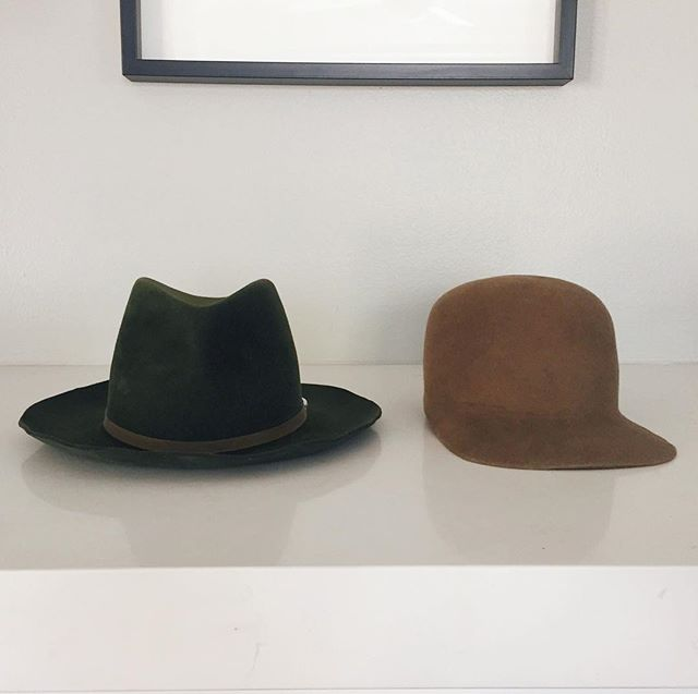 Father's Day hat collection Felt baseball cap + Classic fedora for someone special.