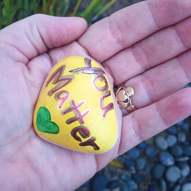 We got this lovely gift left in our front garden, I love this neighborhood #redondorocks #randomactsofkindness ❤️Thank you, you don't realize how much this lifted my spirits 😘#redondobeach #southbay