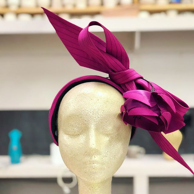 Day 4: Studying with @philliprhodeshats ✂️ Bandeaus & Bows (first 2 photos @philliprhodeshats class sample)