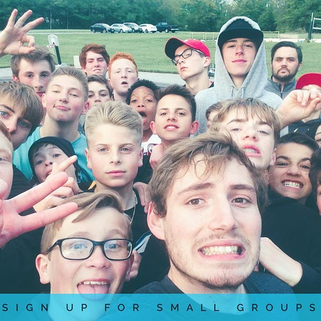 If you're looking for a place to chill, talk about God, eat food, and take ugly selfies then you should join a small group! Link is in the bio.