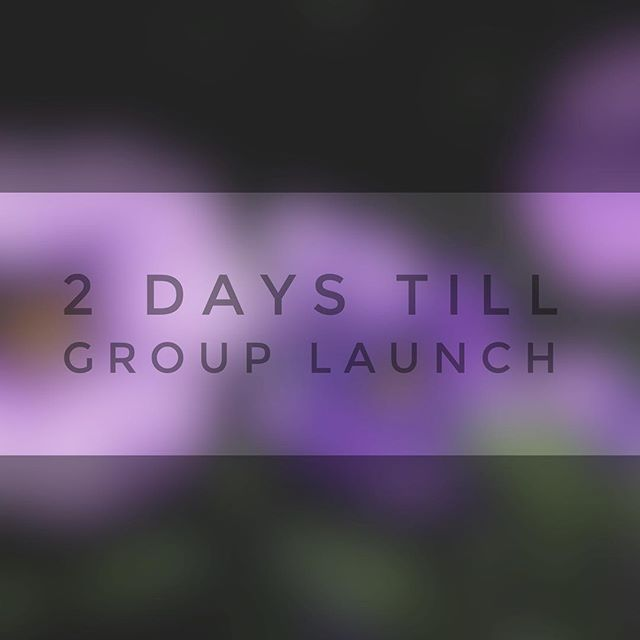 Are you part of a group? If so, don't miss the first group of the year this Sunday!