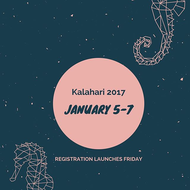 Kalahari registration opens Friday! 🌊