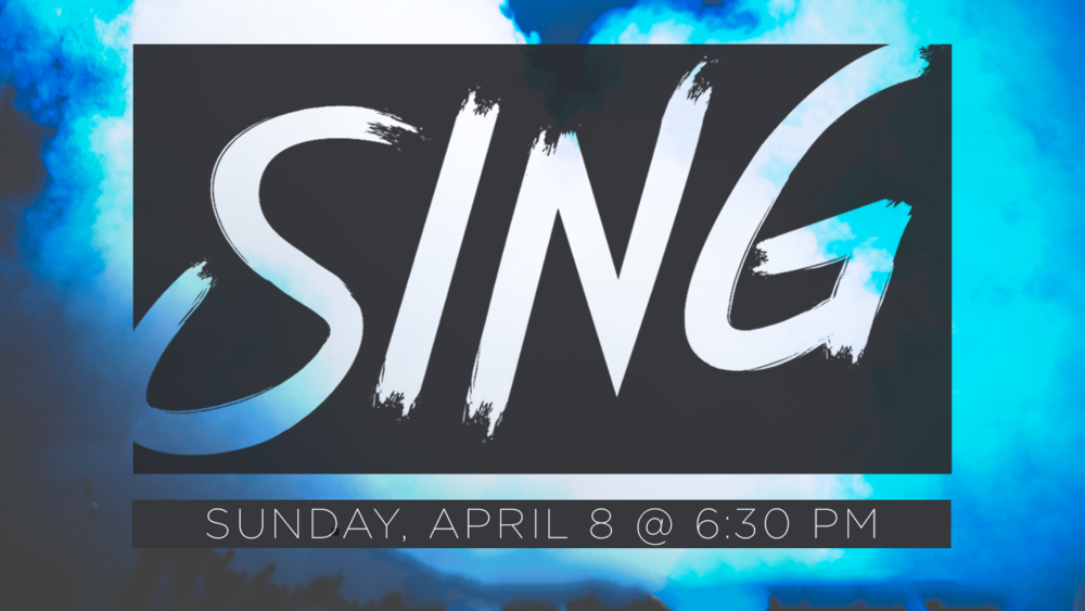 Join us for a night of worship through song on Sunday, April 8, at 6:30 pm at the Pickerington campus. We'll lift our voices and seek God together as we celebrate who Jesus is and all He is doing in our lives.  Childcare is available for ages 5 and under.
