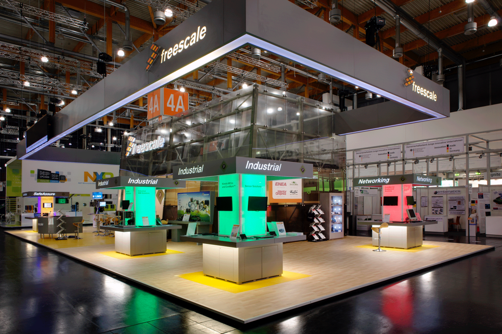 Freescale stand, Nürnberg, Germany