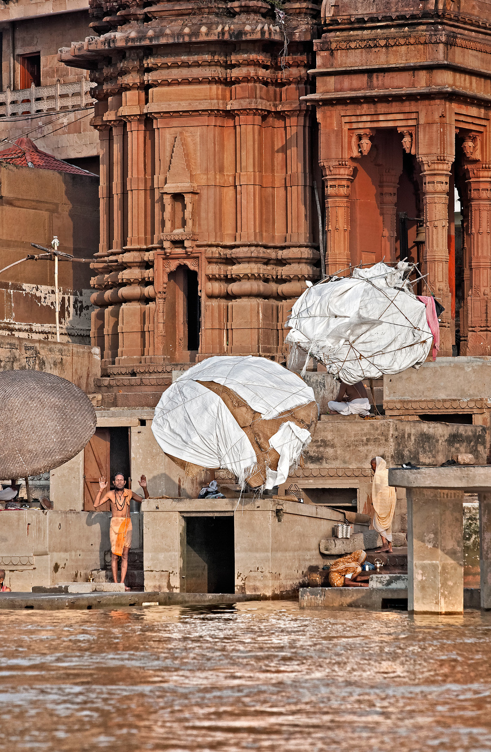 Meditation on the ghats, Varanasi, India