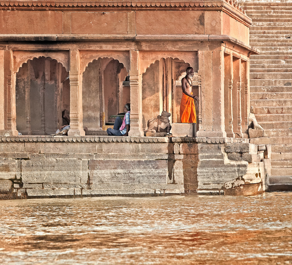 Scene on the ghats, Varanasi, India