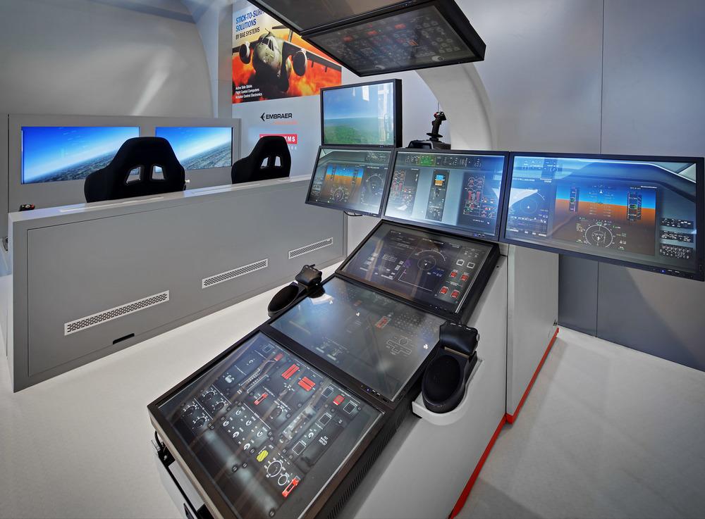 Embraer Defence stand, Farnborough Airshow, UK