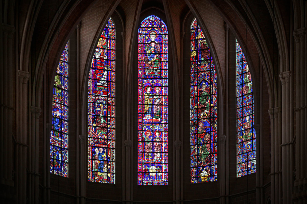 Apse Windows, Chartres Cathedral, Chartres, France