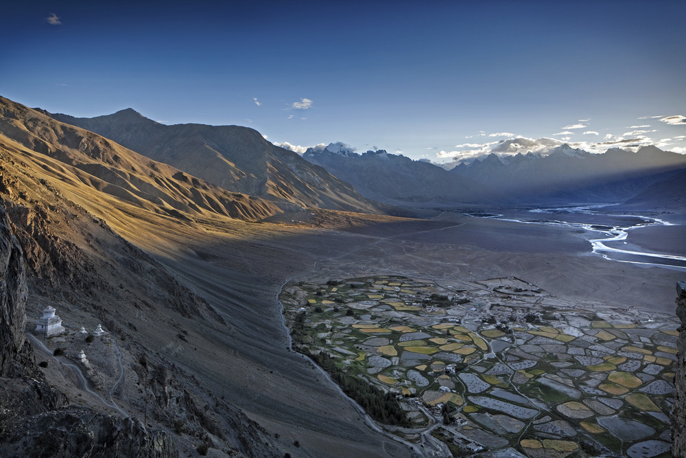 View from Stongde Gompa, Ladakh, India