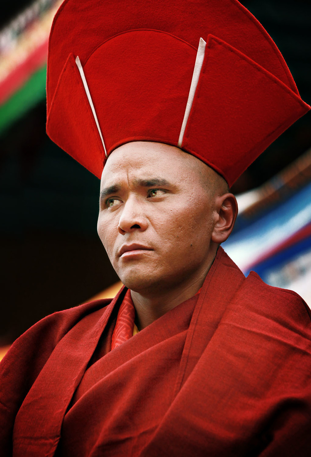 Portrait of a monk, Hemis Monastery